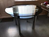 Glass Table chairs