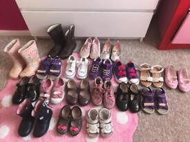 Girls shoes different sizes 5, 6, 7, 8 clarks & converse