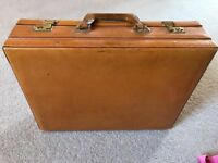 Vintage leather briefcase circa 1970's
