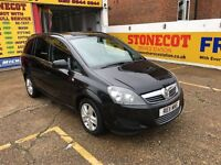 2011 VAUXHALL ZAFIRA 1.8 EXCLUSIVE AUTOMATIC 7 SEATER BLACK 80 000 MILES 2 OWNER