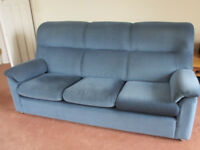 Excellent quality Parker Knoll 3 piece suite in good condition. Sofa, armchair and manual recliner.