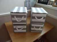 2 sets Small Canvas Drawer units