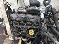 vauxhall vivaro van 1.9 DI 2002 Complete Engine C005495 With injectors and Turbo