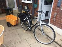 Giant Expression N7 mans bicycle with trailer