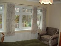 Double bed, lovely self-contained living space, for quiet professional male, non-smoker, cleaner