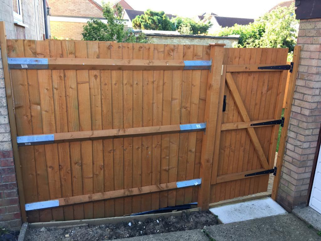 Hand built garden gate 3x fence panels in beccles suffolk hand built garden gate 3x fence panels baanklon Images