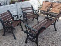 cast iron bench ends / garden furniture / outdoor furniture / patio furniture / garden bench / cast