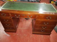 Office desk with leather top good condition