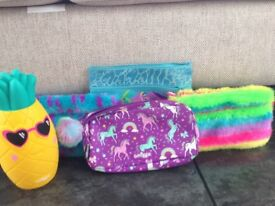 A bundle of Smiggle pencil cases