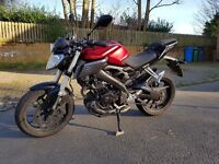 Yamaha MT-125 (64 reg) 124cc, One Owner Full History