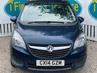 Vauxhall Meriva Exclusiv Ac Cdtieco 1.6, 2014, Manual - £45 PER WEEK - CAR IS £6495