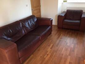 Arighi Bianchi soft leather sofa 2 piece