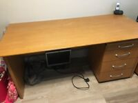Office furniture. Desk , pedestals, cupboard. Good condition.