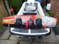 OBRIEN WAKEBOARD 140cm,BINDINGS AND CARRY BAG,IMMACULATE.
