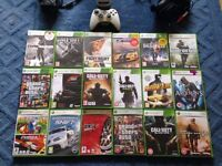 Xbox 360 for sale with charging kit, games bundle, turtle beach headphone
