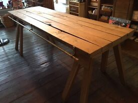 Urban Chique, large rough oak table - BARGAIN DO NOT MISS THIS ONE!