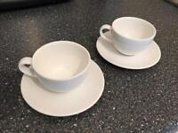 John Lewis Espresso Cups and Saucers