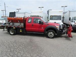 2014 Ford F-450 Ext Cab 4x4 diesel plow salter truck