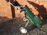 Full set glof clubs, bag & trolley