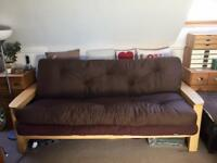 Futon double pull out sofa bed