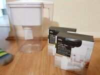 Water filter Jug George Home with 3 new replacement filters