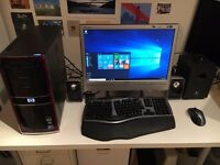"Complete desktop PC system, Windows 10, 20"" LCD monitor, Core i5, 2TB, wireless keyboard"