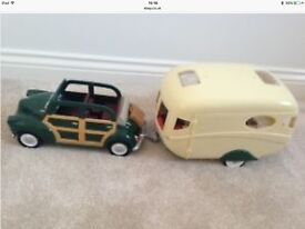 Sylvanian Families Caravan and Car
