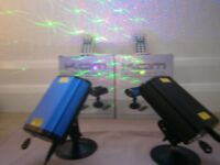 PAIR OF KAM STAR CLUSTER MICRO LASER DISCO LIGHTS