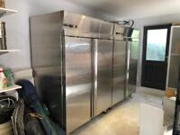 Capital Commercial Double Upright Freezer Stainless Steel
