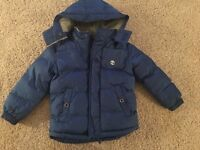 Boys blue timberland jacket age 5