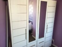 2 double wardrobes and drawers