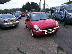 Daihatsu Sirion 1.0 litre 83k 5dr vgc FullMOTServiceCambeltWarranty all included.