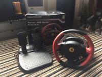 Ferrari 458 Spider Racing Wheel & Pedal. Excellent Condition. £49.99!!