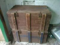 WW2 wooden ammo boxes