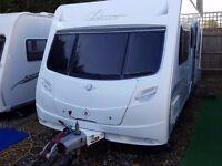SUPERB 2009 Lunar Clubman ES 4 Berth Side Dinette End Washroom Caravan with MOTOR MOVER