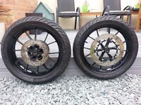 wheels and tyre's including disc's+sprocket for yamaha mt125 or yzfr125