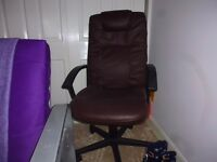 Black leather swivel office chair £20