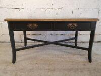 Bradley Vintage Medium Teak & Ebony Black Coffe Table / Occasional Table CR0007