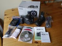 Canon EOS 7D 18mp DSLR Body Only plus Battery Grip Boxed MINT