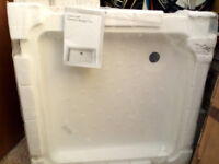 SHOWER TRAY - Moretti SQUARE 760 x 760 NEW & Unwrapped, White+Pattern