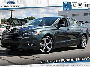 2016 Ford Fusion **SE*AWD*TOIT*NAVI*CAMERA*CRUISE*A/C 2 ZONES**