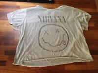 Faded Nirvana t shirt