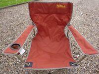 2x Folding Travel Chairs