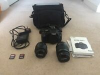 Canon Eos 600D, 2 Lenses, 2 32GB SD Cards and Lowenpro Carry Case