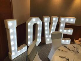 4ft Cabochon Love Sign, Perfect For Weddings