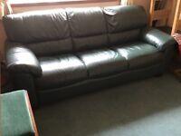 Leather 3 seater Sofa. Hardly used.