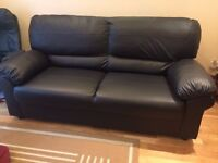 *BRAND NEW* Two black leather sofas