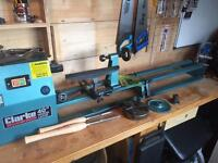 Lathe set up