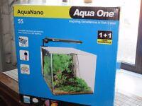 55 LITRE Aqua One fish tank with heater, filter & filter media