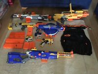 Large selection of NERF guns and accessories